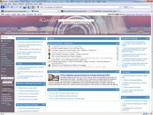 My iGoogle homepage