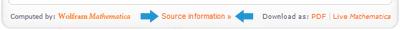 Wolfram source information